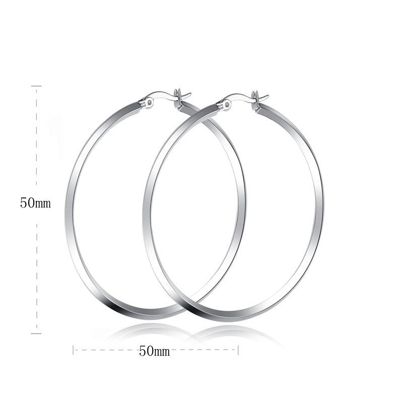 Sterling Silver Lock Hoops earring - Ashley Jewels - 3