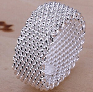Sterling Silver Woven Mesh Ring - Ashley Jewels - 1