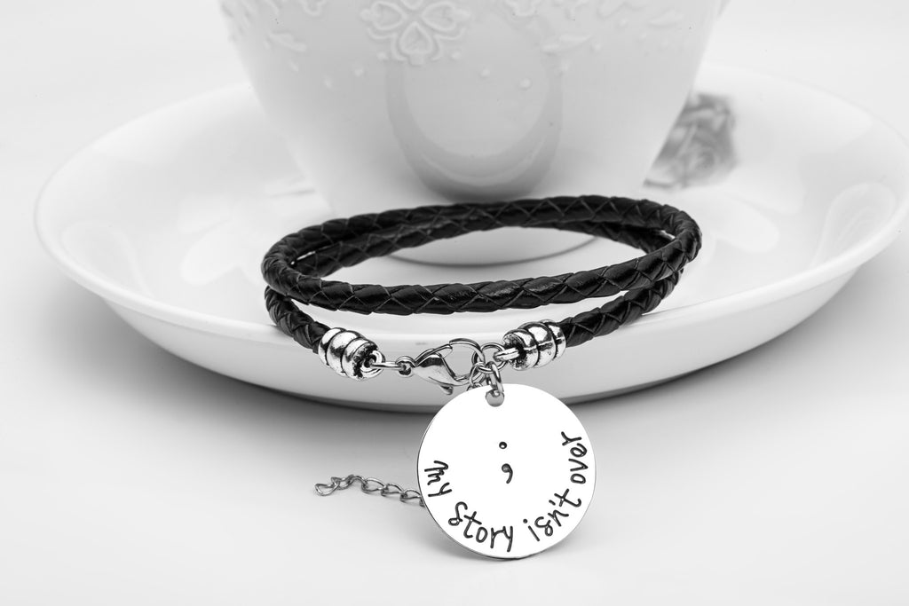 My Story isn't Over Hand Stamped Bracelet - Ashley Jewels - 4