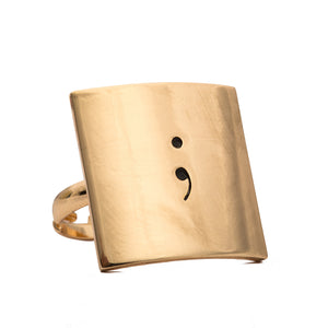 Adjustable Semicolon Ring - Ashley Jewels - 3