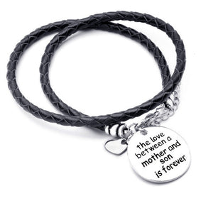 The Love Between a Mother and Son is Forever-Hand Stamped Bracelet - Ashley Jewels - 1