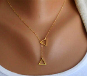 Triangle Layer Necklace - Ashley Jewels