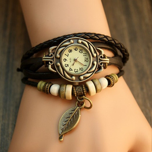 Leaf Vintage Wrap Watch with Free Gift Box - Ashley Jewels - 1