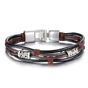 Handmade Genuine Leather Men's Bracelet - Ashley Jewels - 1