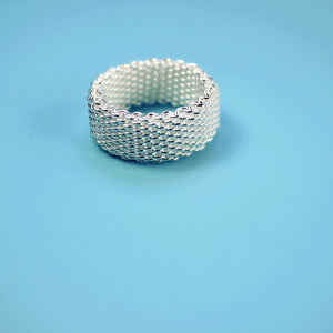 Sterling Silver Woven Mesh Ring - Ashley Jewels - 3