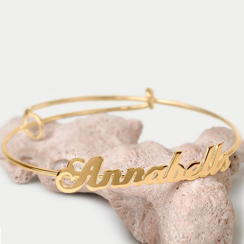 Personalized Adjustable Bangle - Ashley Jewels - 1