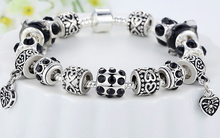 European Crystal Charm Bracelet - Ashley Jewels - 2
