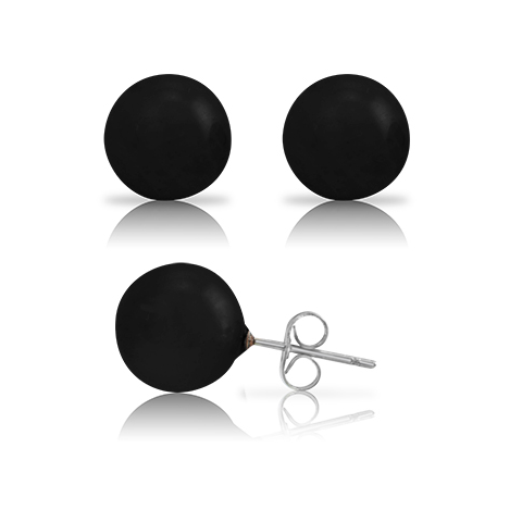 Opaque Stone 10mm Ball Stud Earring - Ashley Jewels - 1