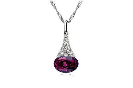 Crystal Water Drop Pendant - Ashley Jewels - 4