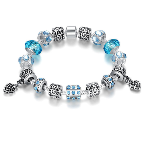 European Crystal Charm Bracelet - Ashley Jewels - 1