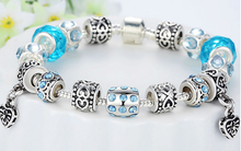 European Crystal Charm Bracelet - Ashley Jewels - 3
