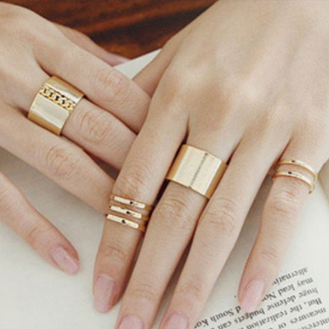Bold Stack-able Midi Ring Set - Ashley Jewels - 1