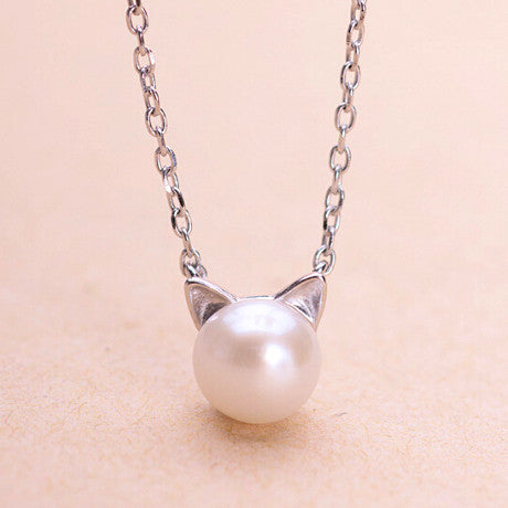 Cat Pearl Necklace - Ashley Jewels - 1