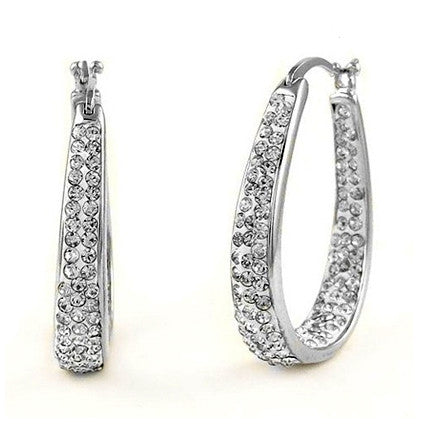 18K White Gold Hoop Earrings - Ashley Jewels - 1