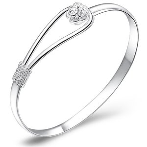 Crystal Rose Bangle - Ashley Jewels - 1