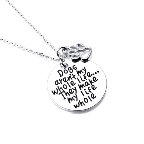 Engraved Dog Pendant - Ashley Jewels - 1