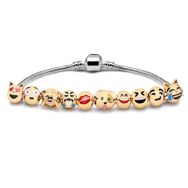 All Emoji Charm Bracelet - Ashley Jewels