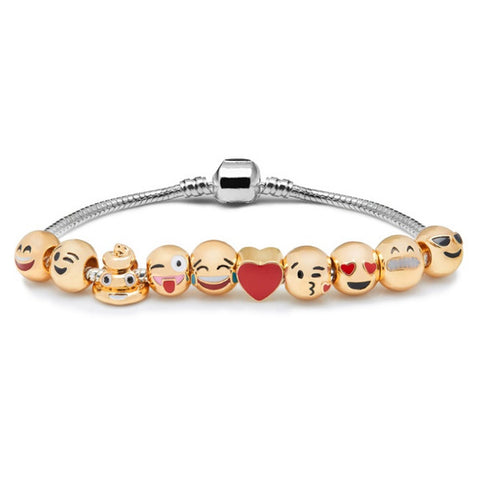 Emoji Charm Bracelet with Free Gift Box - Ashley Jewels