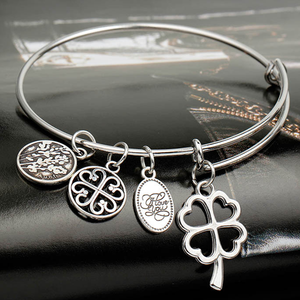 Love and Luck Charm Bangle - Ashley Jewels - 2