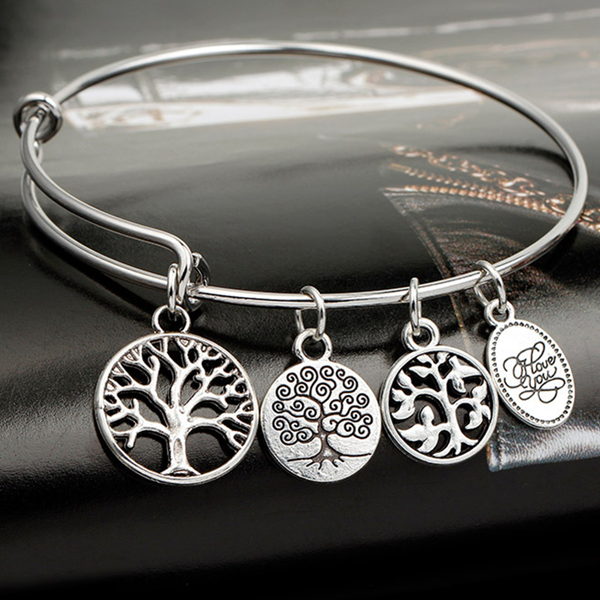 Enchanting Charm Bangle-tree of life - Ashley Jewels