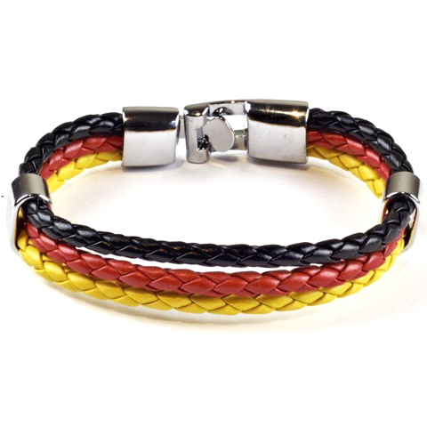 Team Germany Leather Unisex Bracelet - Ashley Jewels - 2