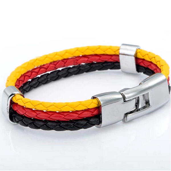 Team Germany Leather Unisex Bracelet - Ashley Jewels - 3