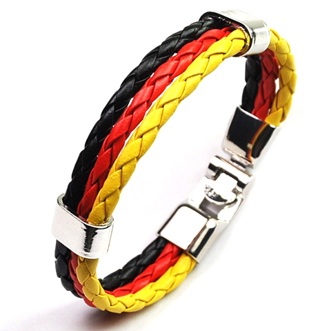 Team Germany Leather Unisex Bracelet - Ashley Jewels - 1
