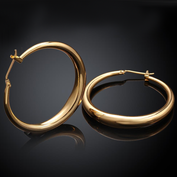 Gold Hoop Earrings - Ashley Jewels - 3