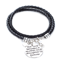 The Love Between a Mother and Daughter is Forever - Hand Stamped Bracelet - Ashley Jewels - 2