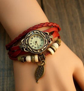Leaf Vintage Wrap Watch with Free Gift Box - Ashley Jewels - 2