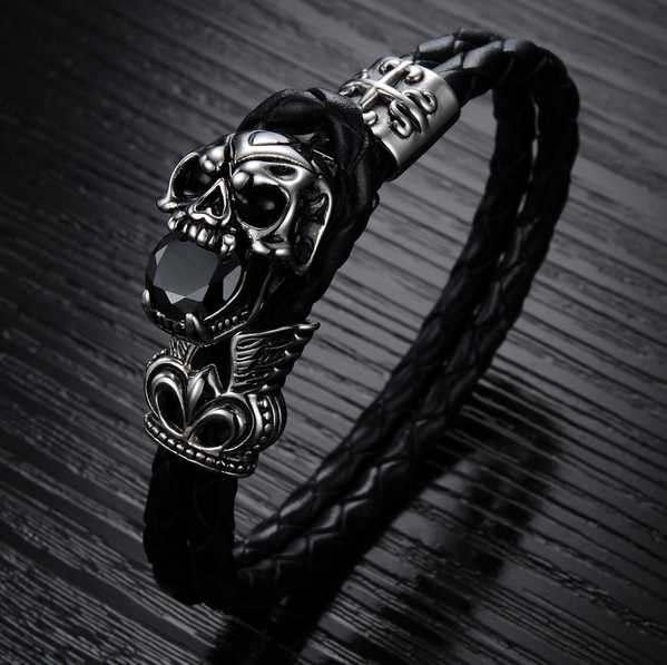 Dark Skull Men's Bracelet - Ashley Jewels - 3
