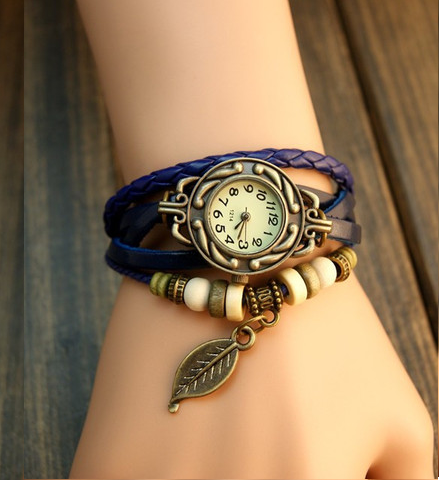 Free Leaf Vintage Wrap Watch with Free Gift Box - Ashley Jewels - 4
