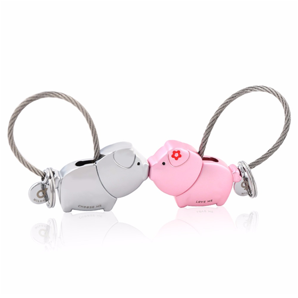 Pig Key Ring For Lovers With Free Gift Box - Ashley Jewels - 2