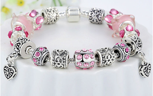 European Crystal Charm Bracelet - Ashley Jewels - 4