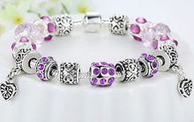 European Crystal Charm Bracelet - Ashley Jewels - 5