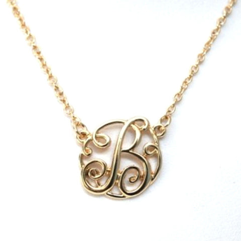 Monogram Initial Necklace - Ashley Jewels - 1