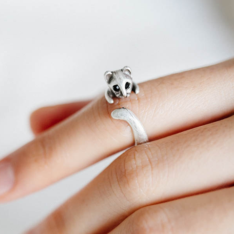 Silver Plated Cat Ring - Ashley Jewels - 1