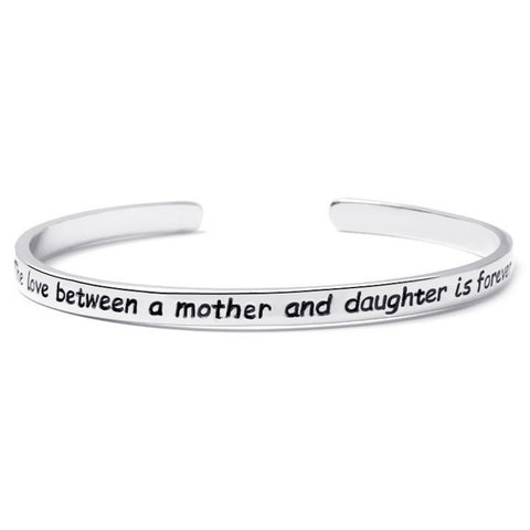 Mother And Daughter Engraved Bangle - Ashley Jewels