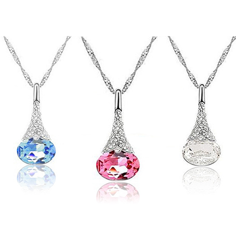 Crystal Water Drop Pendant - Ashley Jewels - 1