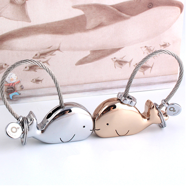3D Whale Key Ring for Lovers Free Gift Bag - Ashley Jewels - 2