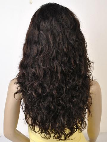 "Swiss Lace Wig. 100% Virgin Human Hair. Body Wave texture. 20"" Long. - Hair and Accessories Inc"