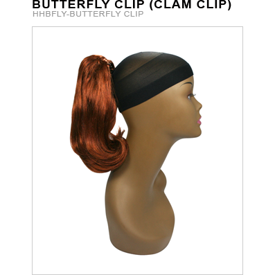 Unique's Human Hair Butterfly Clip - Hair and Accessories Inc