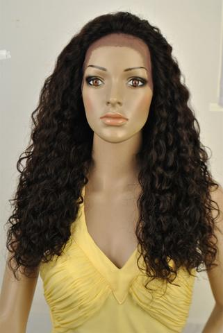 "SWISS LACE WIG.100% Virgin Human Hair. SPANISH CURL TEXTURE. 20"" - Hair and Accessories Inc"