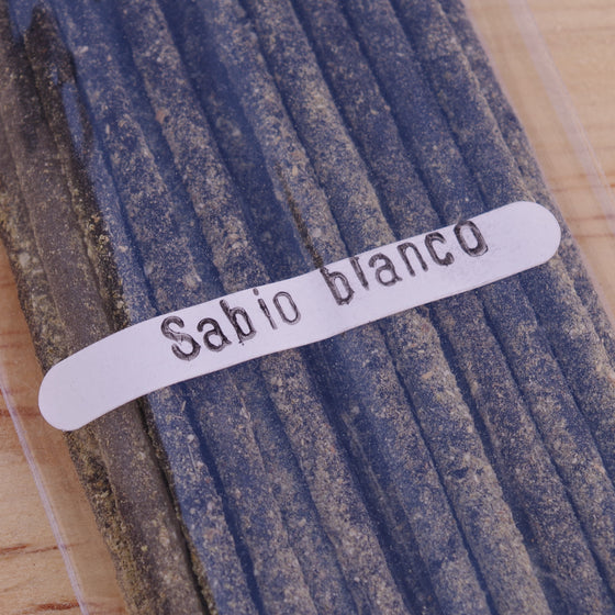 20 White Sage Incense Sticks Handrolled In Mexico