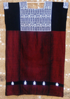 Black and Red Chiapas Huipil Cotton Handwoven from Mexico