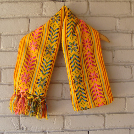 Mexican Women's Accessories Rebozo Shawl Beautiful Pattern Frida Kahlo Style