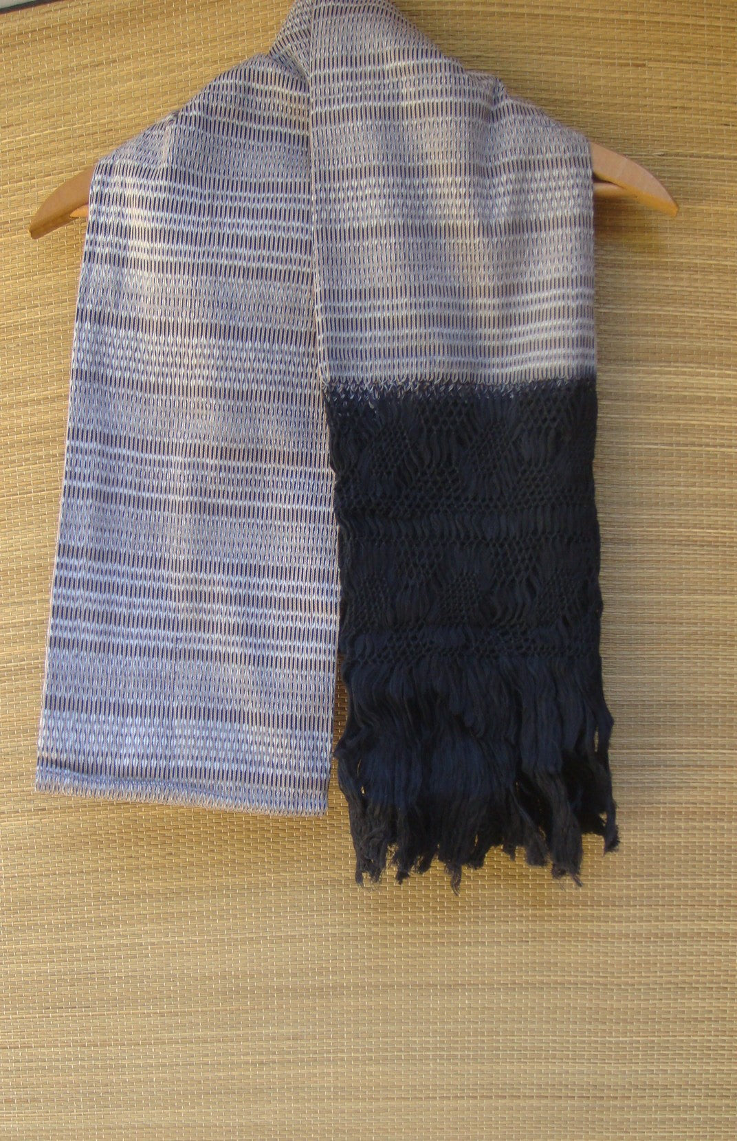 Mexican Handwoven Brown Rebozo Sarape Shawl Wrap Pareo Scarf Runner From Tenancingo
