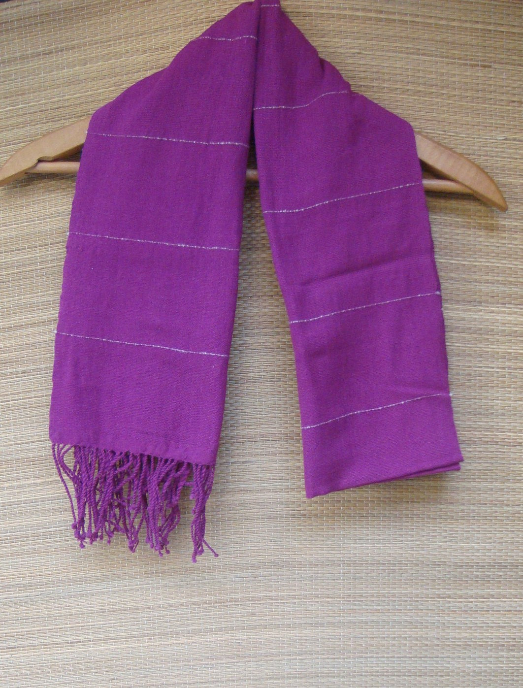Rebozo Shawl Handwoven Cotton from Mexico