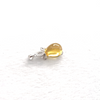 Mexican Amber Drop Pendant 925 Silver with Cubic Zirconia