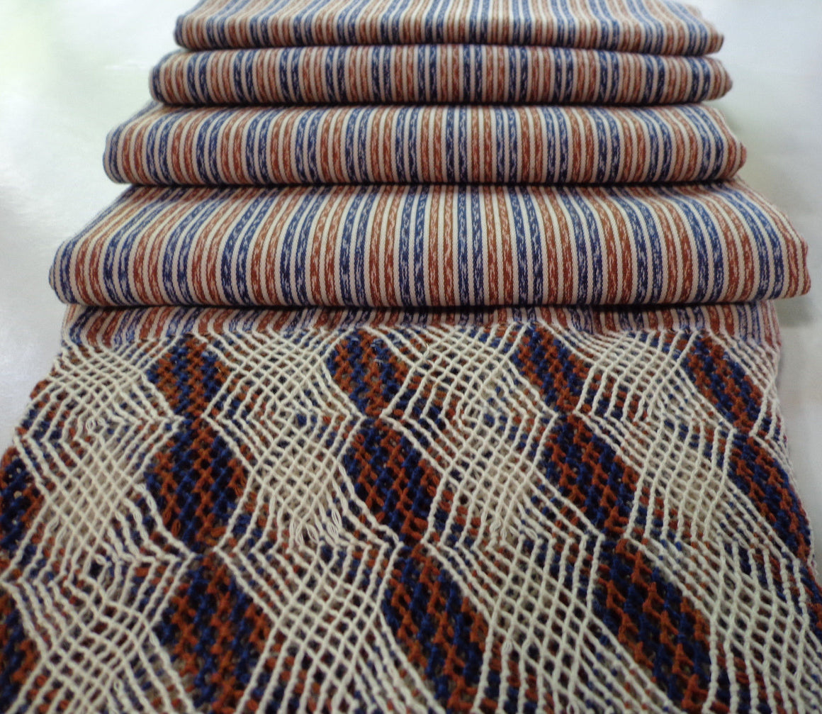 Mexican Rebozo Shawl Wrap Scarf Runner From Tenancingo